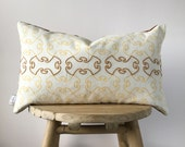 Lumbar Embroidered Pillow Cover - EMBROIDERED BOSPHORUS OCHRE