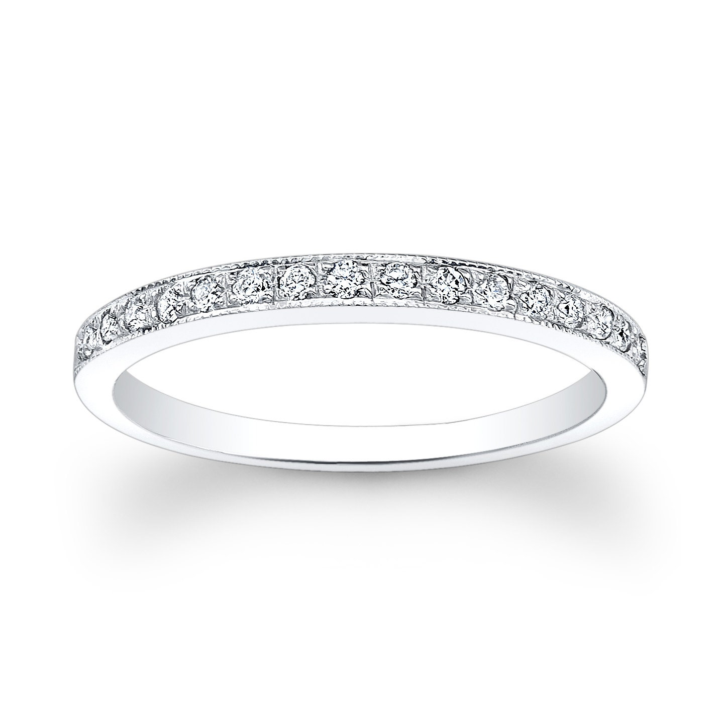 platinum pave bands wb melee round in pav band gold diamond french white eternity wedding