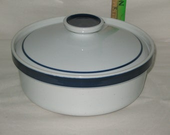 Blue Monterrey Stoneware by Mi Japan Round Covered Vegetable Bowl