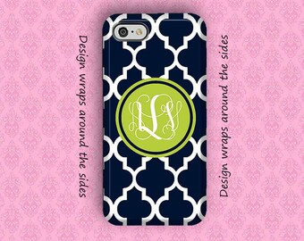 iPhone X iPhone 7 Case,iPhone 7 Plus Case, iPhone 8 Case, iPhone 6 Plus Case, iPhone Case, 6S Plus Case, Navy Green Personalized iPhone Case