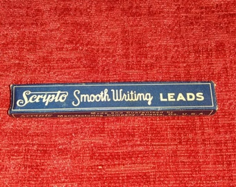 Box of Scripps writing leads