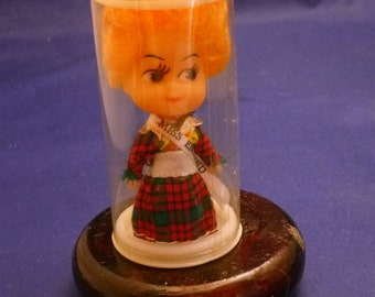 Vintage Miniature Miss England Made in Hong Kong Collectible Doll, 1960s