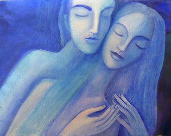 Lovers Embrace, Original painting.