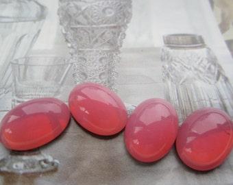Czech 18x13mm Rose Opal GlassCabs 4Pcs.