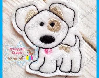Puppy Dog Felt Feltie Embroidery Design