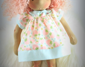 "Reggie's Babydoll dress pattern PDF -Fits Waldorf doll 15"" to 17"""