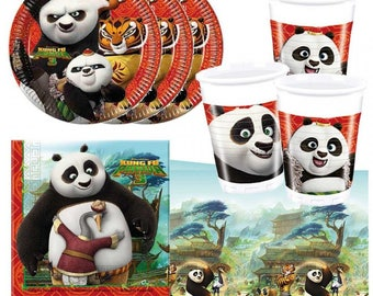 KUNG FU PANDA Party Supplies Decoration Birthday Napkins Tablecover Plates