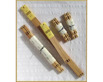"""Your choice of vintage stretcher bar sets: 1 - 12""""x24"""", Marie Products, 1982; 1 - 12""""x16"""" and 2 - 5""""x7"""", Creative Circle, with instructions."""