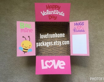 Valentine's Day Care Package Box Flaps