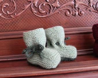 INSPIRED BOOTEES Garter Easy to Knit Baby Toddler and Child Sizes  Knitting Pattern PDF