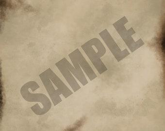 Burnt Texture Single Sheet Digital Scrapbook Paper