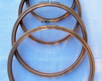 """10 inch, Large Round Embroidery hoop for working counted cross stitch. Embroidery Ring. 10"""" hoops. Wooden Embroidery Hoop. 10 inch ring."""