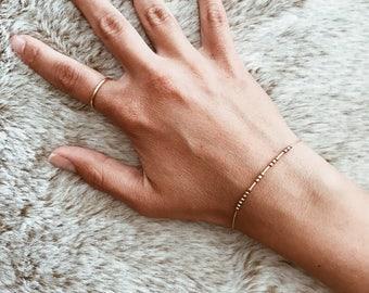 CUSTOM Morse Code Bracelet or Anklet
