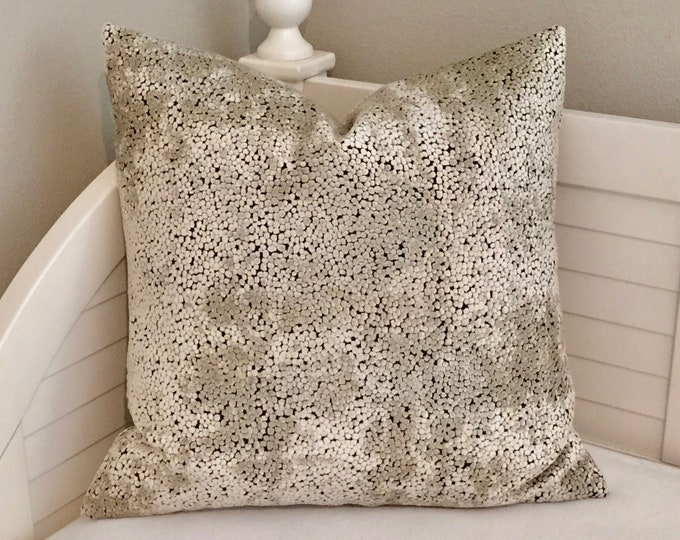 Velvet Dot Designer Pillow Cover, Velvet Pillow Cover, Square, Lumbar and Euro Pillow Cover Sizes