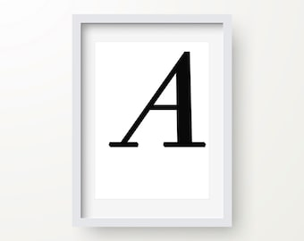 Letter A Print, Typography, Letter Poster, Motivational Typography, Modern Art, Instant Download, Digital Print, Monogram Print