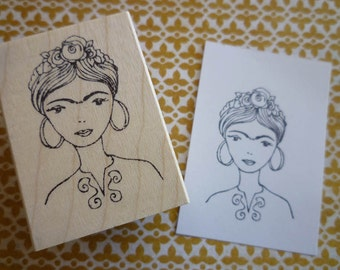 Love Frida | Wood Mounted Rubber Stamp | KP5025F