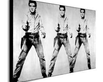 Elvis Presley - Andy Warhol Canvas Wall Art Print - Various Sizes