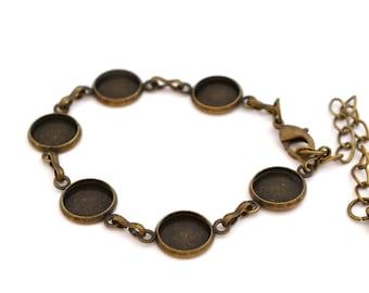 Bracelet 6 round cabochon