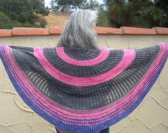 Circle Dance Shawl Simple Lace Knit Pattern