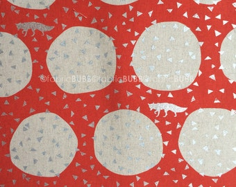 Den in Orange by Echino by Kokka Fabrics, Etsuko Furuya