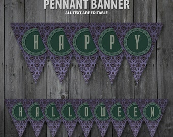 The Haunted Mansion Pennant Banners