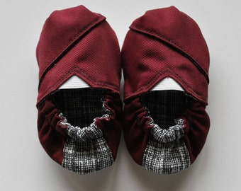 Deep Crimson Baby Shoes