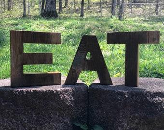 Reclaimed Oak Letters