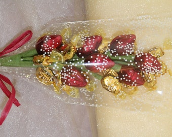 Werther's & Kisses - Classic Elegance - Handmade Candy Bouquet