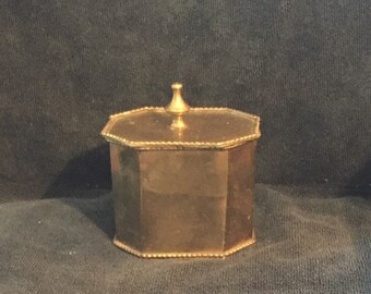 Vintage brass trinket box - Made in India