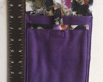 Phone Pocket Plus - purple / abstract design  #B73