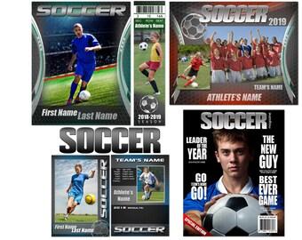 "Soccer ""Graphite"" Templates"