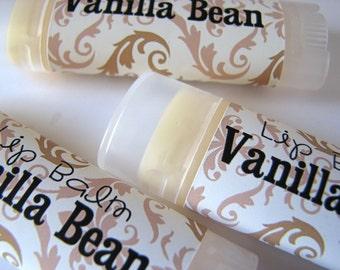 Vanilla Bean- Vegan Lip Balm - Natural Lip Butter - Vegan - Bath and Beauty