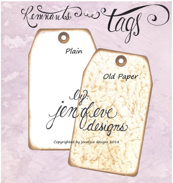 Build ~A~ Bellishment Remnants ~ Tags in Old Paper & Plain