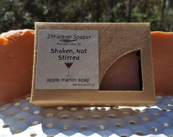 Appletini Soap - Shaken Not Stirred Soap - Apple Martini Soap - Apple Soap