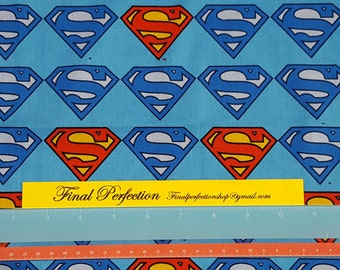 Superman Logo Fabric- Fat Quarters Only