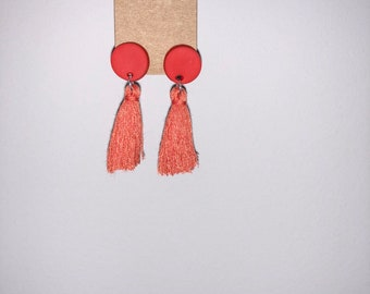 Small Red Tassels
