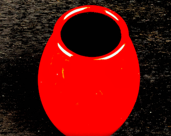 Vintage Red Glazed Ceramic Vase from Pier 1 Imports