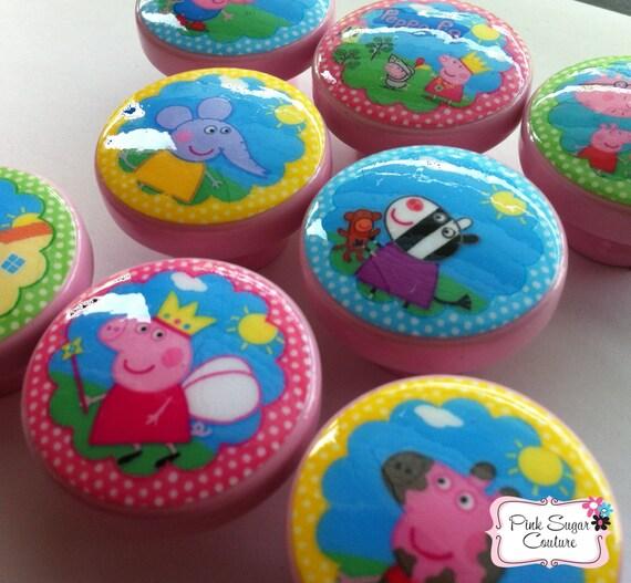 8 PEPPA PIG Handmade Knobs m2m Bedding Drawer Pull Kids Kids