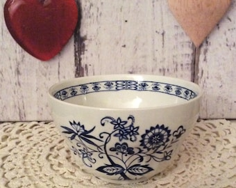 Vintage J & G Meakin Sugar Bowl. Blue Nordic. Blue and White. 1960s.