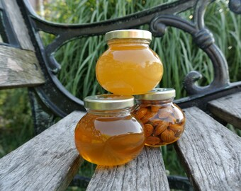 Edible Gift, Raw Honey & Nuts, Unique Gift Ideas For Dad, 3 jars
