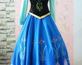 Anna Travel embroideries - Frozen costume - Disney Costume