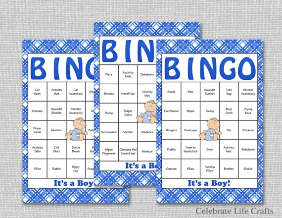 30 baby shower bingo cards printable party baby boy solutioingenieria Choice Image