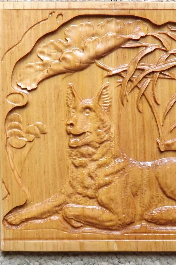 Modern Wood Carving Wall Art Ornament - Wall Art Design ...