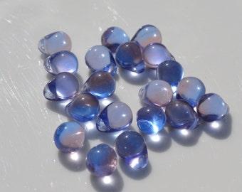 lavender Blue 10x9mm Czech Glass Drop Beads   25