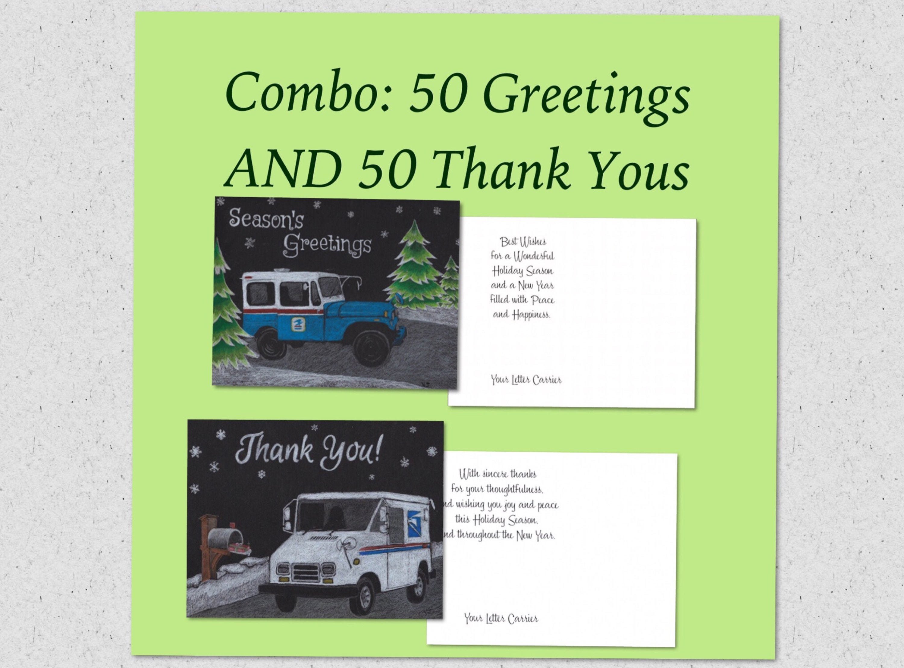Combo pack 50 letter carrier greetings and 50 letter carrier zoom kristyandbryce Gallery