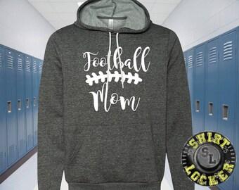 Football Mom Womens Hooded Sweat Shirt Football Spirit Wear Design Mother Hoodie Spirit Wear