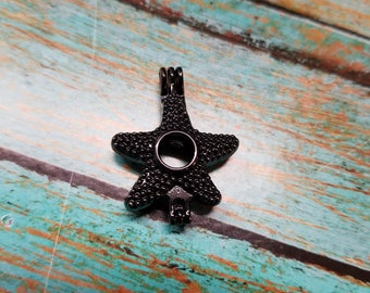 Black Starfish Pearl / Bead Cage