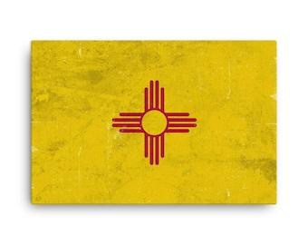 New Mexico Flag, New Mexico Flag Art, New Mexico State, New Mexico Flag Wall Art, New Mexico Canvas, NM Flag Print, Poster, Gifts, Art