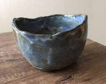 Ocean rustic tea bowl