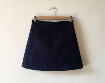 Blue beaded embroidered skirt